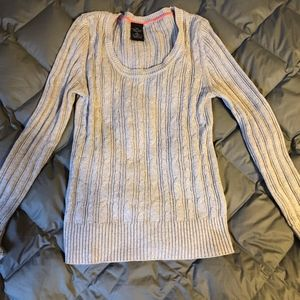 Cable Cotton Scoopneck Sweater